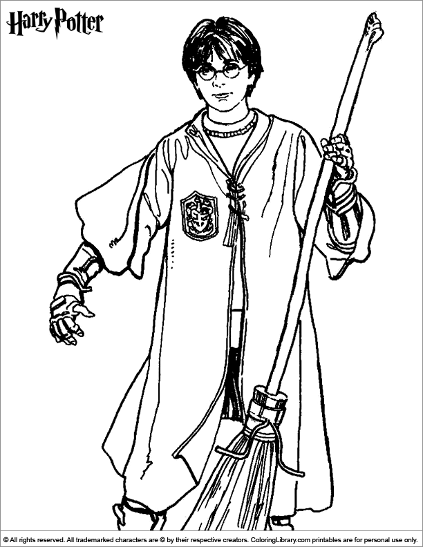 Harry Potter Coloring Page Harry Potter Harry Potter Coloring