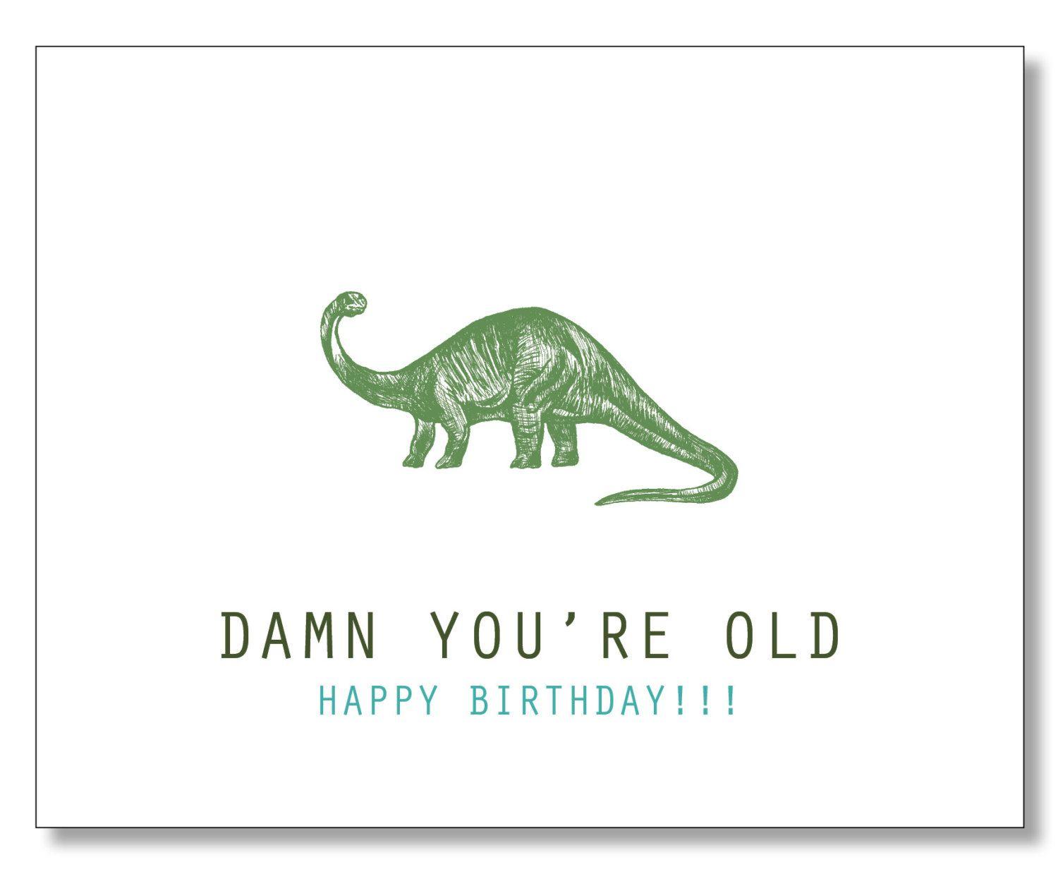 OVER THE HILL Hilarious Birthday Card Damn You're Old