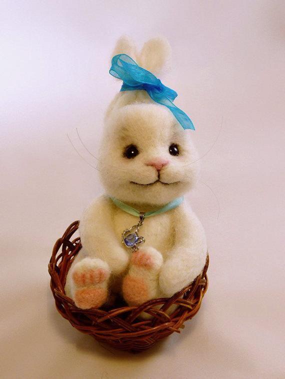 валяние игрушки пасхальный кролик фото природы использование