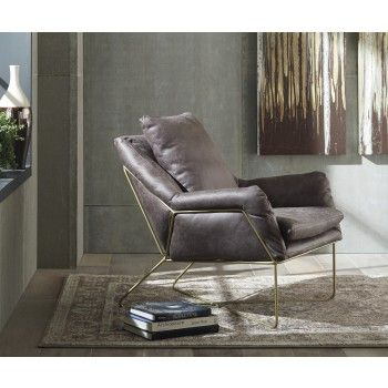 Wondrous Crosshaven Dark Gray Accent Chair Home Inspiration In Pabps2019 Chair Design Images Pabps2019Com
