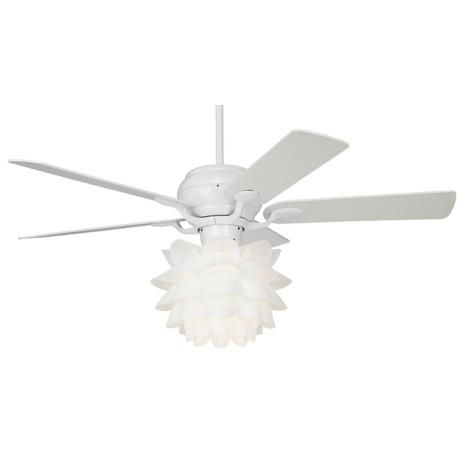 A Simple White Ceiling Fan Becomes A Work Of Art With The Addition