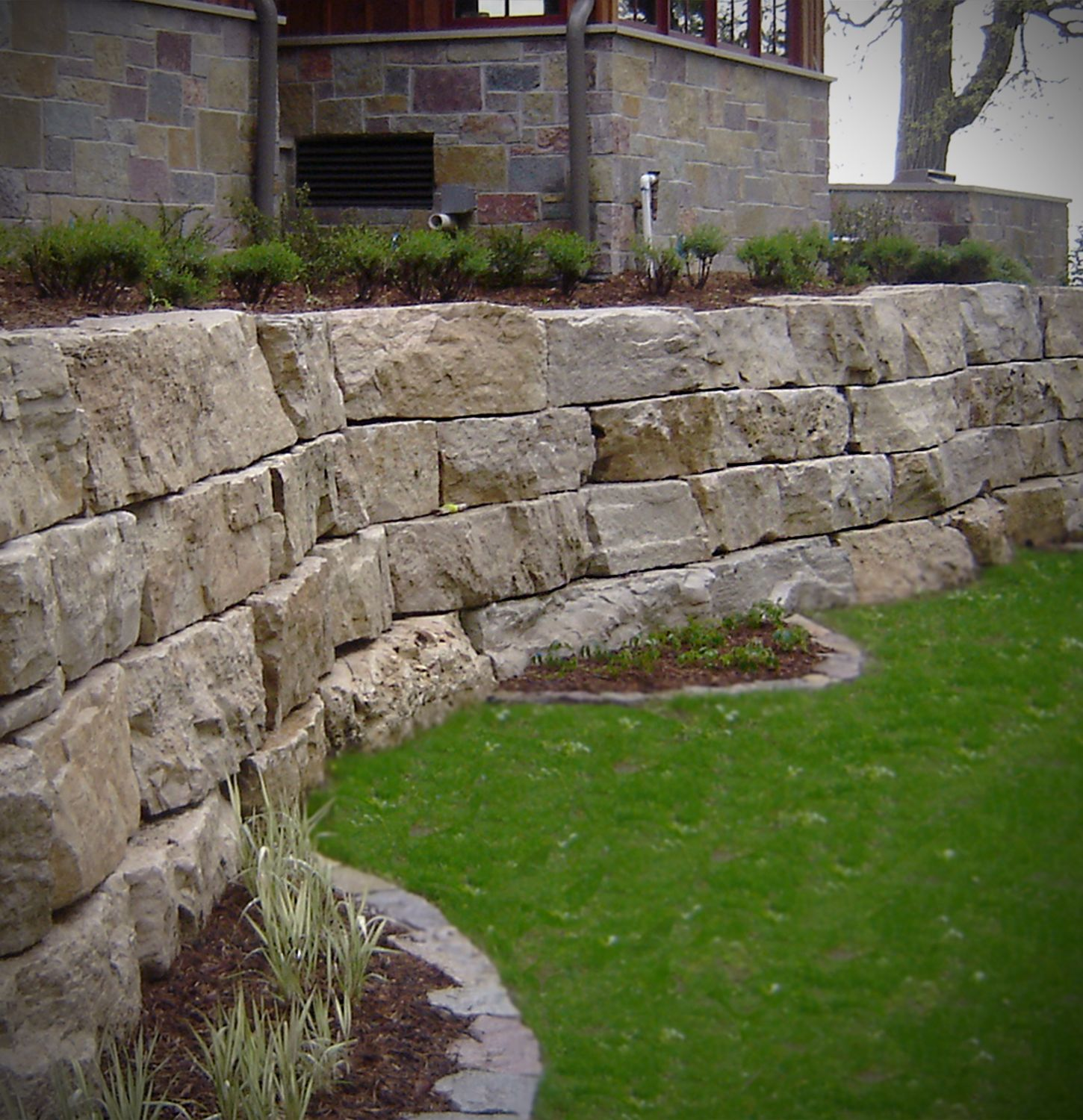 Castle Stone Home Outdoor Living Retaining Wall Veneer Stone Patio Fire Pit In 2020 Stacked Stone Walls Patio Stones Outdoor Stone