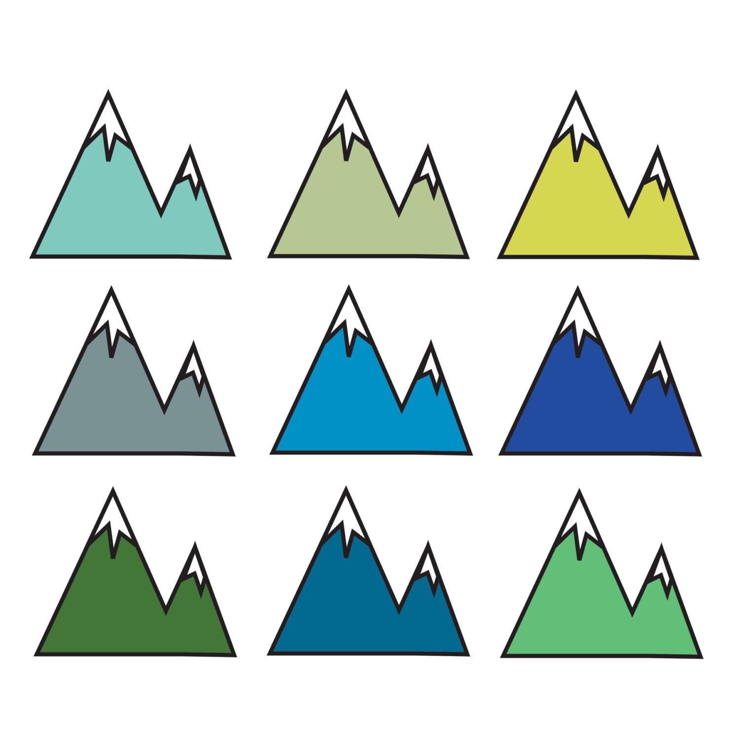 Clip Art Clipart Mountains 1000 ideas about mountain clipart on pinterest scrapbook bullet journal and bear silhouette