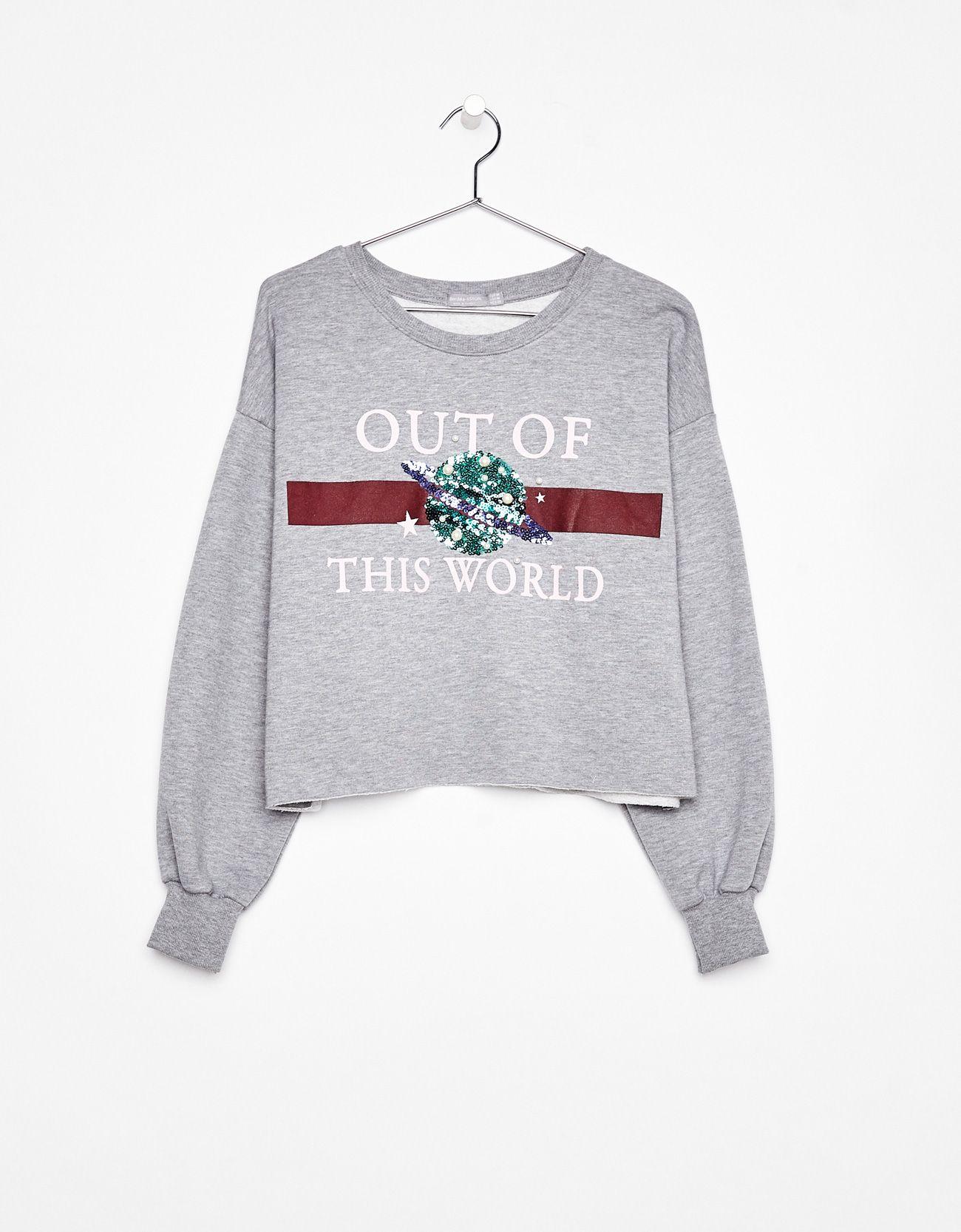 Sweatshirt with slogan in 2019 | Sudaderas bsk | Sweatshirts