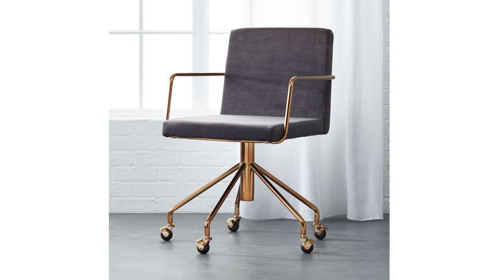 Desk chair cb2 modern office chair white office chair