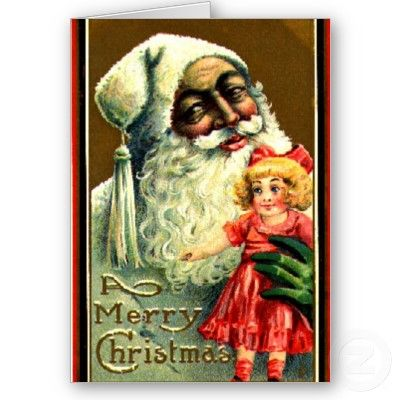 african american santa claus christmas cards multi ethnic xmas made in america order in bulk - Cheap Christmas Cards In Bulk