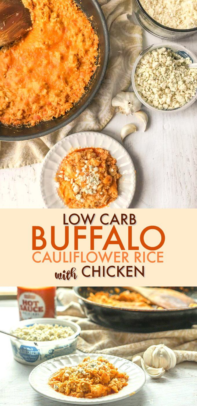 Low Carb Buffalo Cauliflower Rice with Chicken images