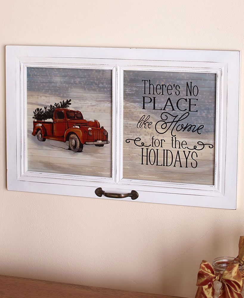 23 Winter Wall Hangings Christmas Red Truck Dollar Store Christmas Christmas Crafts Decorations