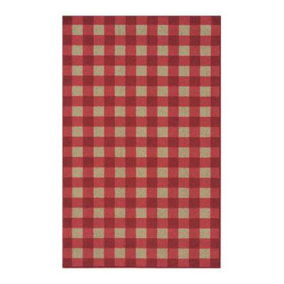 Karastan 357 29030 French Check Area Rug Red This