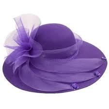 Purple Fancy Hat Ungu Topi