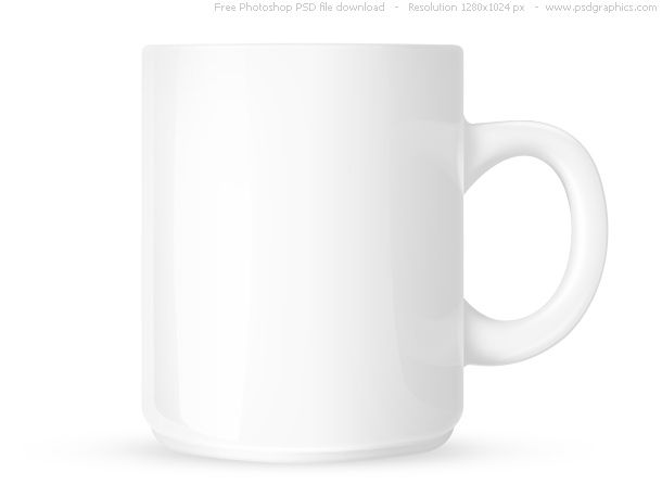 Psd White Coffee Mug White Coffee Mugs Mugs Coffee Mug Drawing