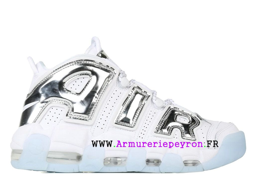 huge selection of ae862 df2f4 ... closeout chaussures nike 2018 pas cher pour homme blanc gris nike air  more uptempo chrome 917593
