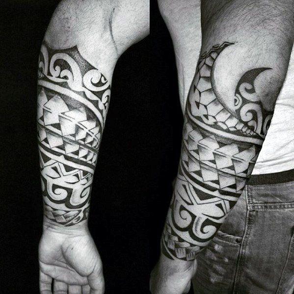 40 Polynesian Forearm Tattoo Designs For Men - Masculine Tribal ...