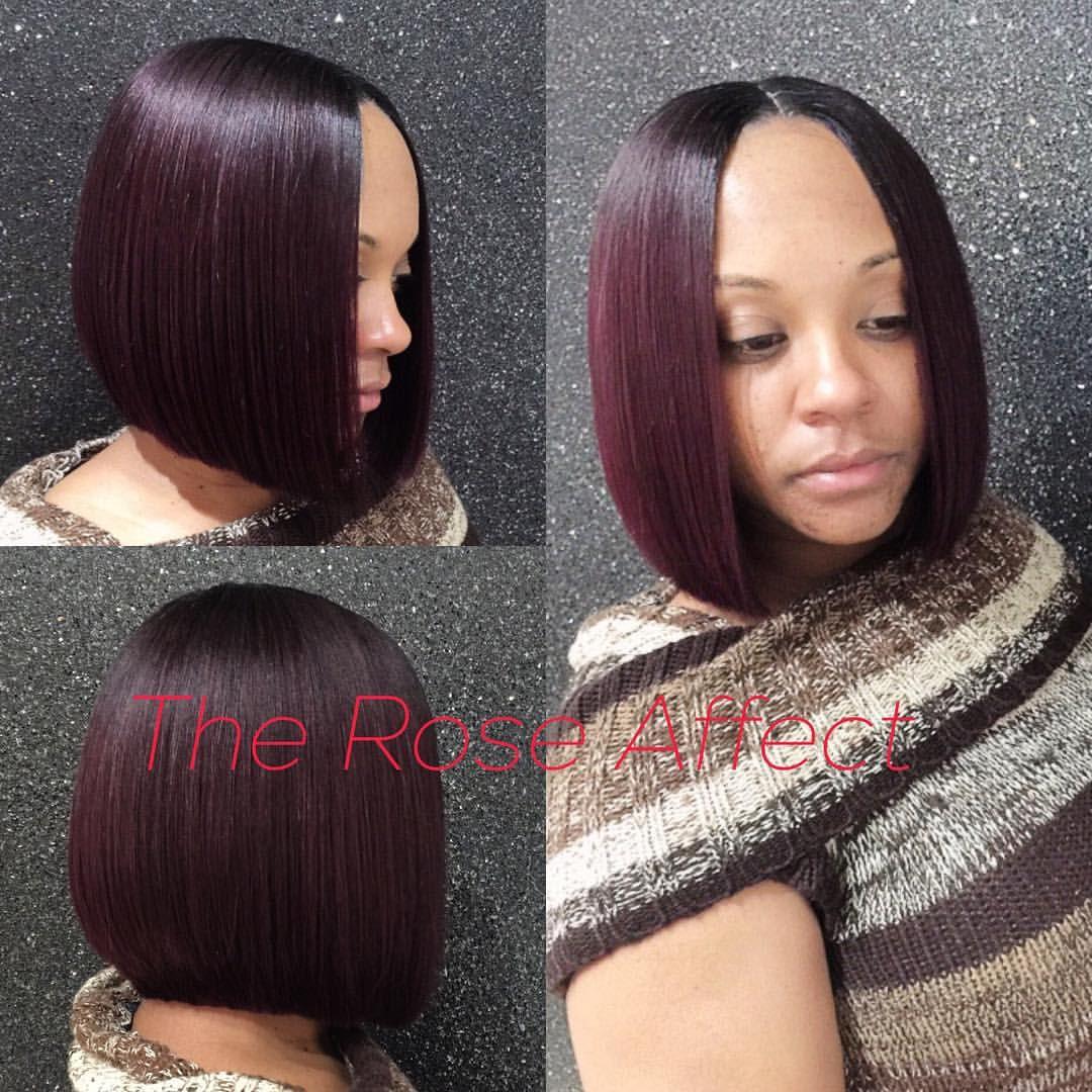 Blunt Cut Quickweave Bob Theroseeffect Hair Hair