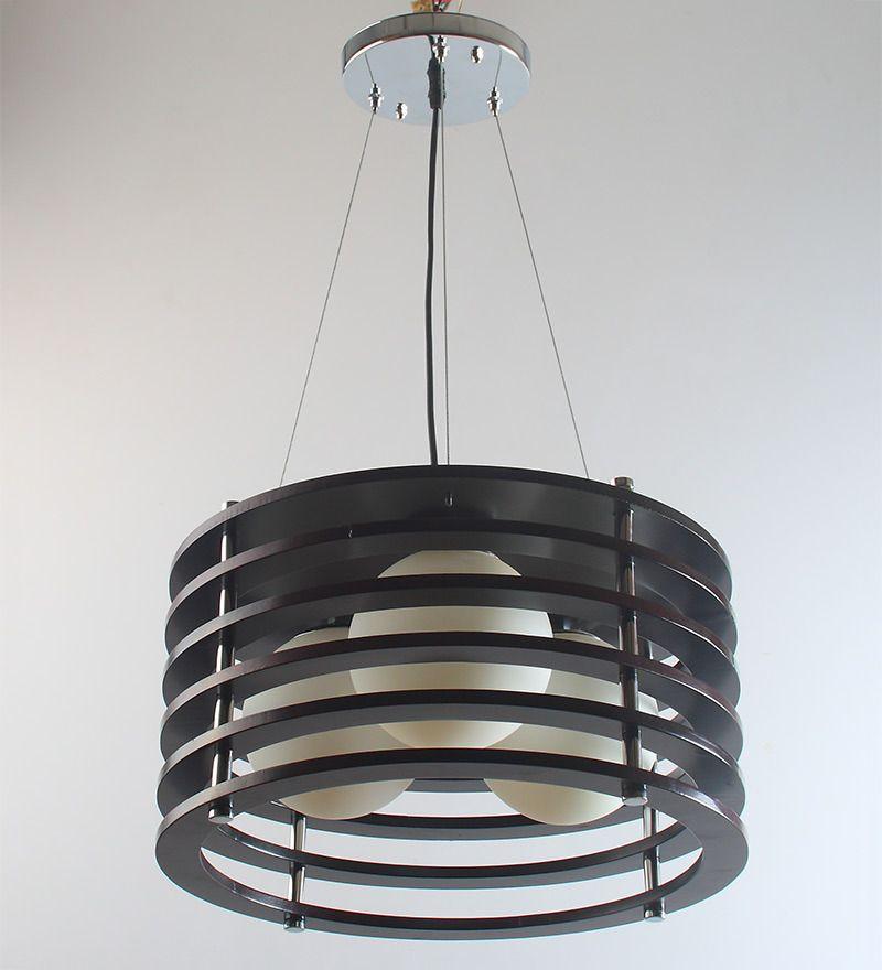 Black Wood Hanging Light By Learc Designer Lighting