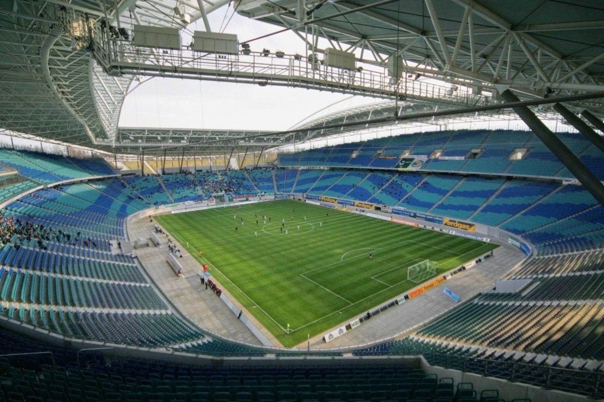 Interior Red Bull Arena Leipzig Alemania Capacidad 44 199 Espectadores Equipo Local Rb Leipzig Estadios Del Mundo Estadio De Futbol Estadios