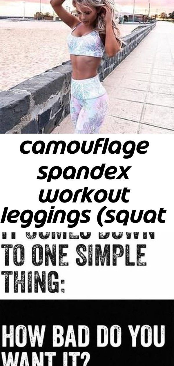 Camouflage spandex workout leggings (squat proofed!) -  Best Fitness Motivation Quotes Tumblr Gym 52...