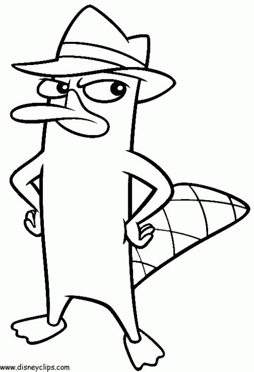 Disney Perry The Platypus In Online Phineas And Ferb Coloring