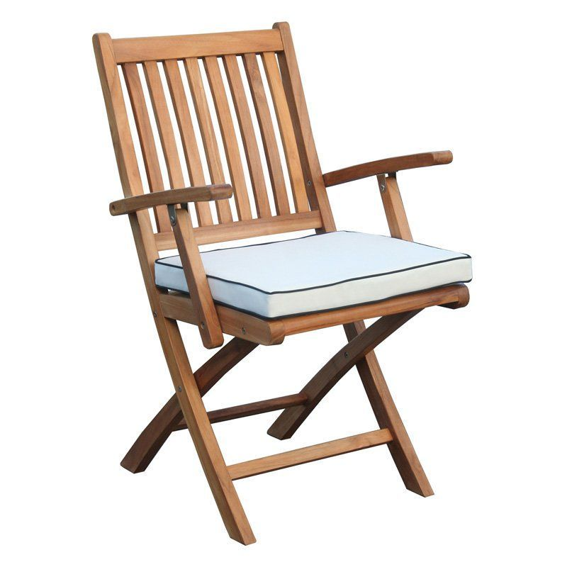 Chic Teak Santa Barbara Outdoor Folding Chair Cushion