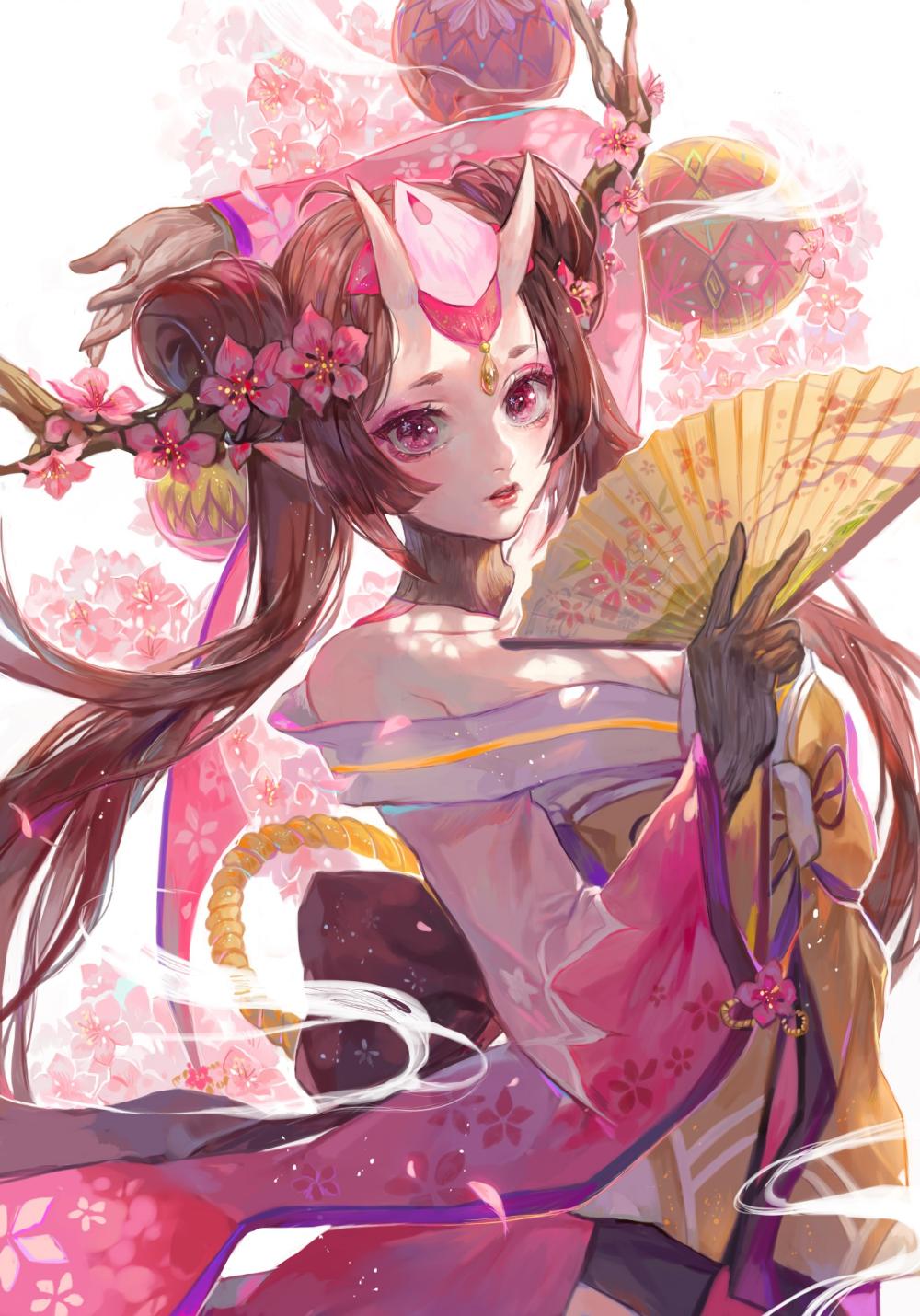 Wallpaper women, fantasy girl, demon girls, horns