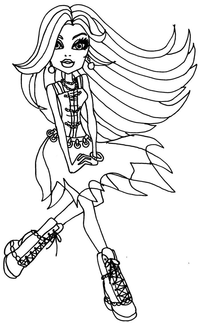 Monster High Colouring Pages Frankie Stein ColouringBratz