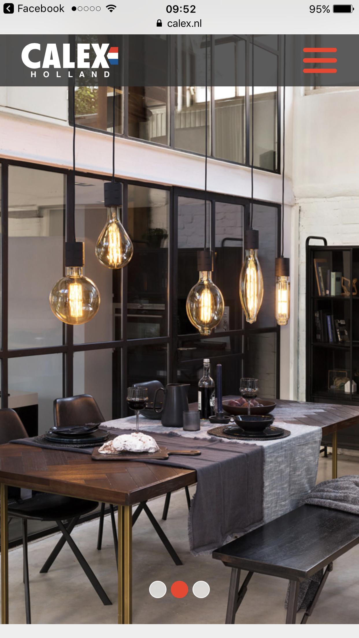 Calex Giant LED lamps  saai op deze manier  Eetkamer in
