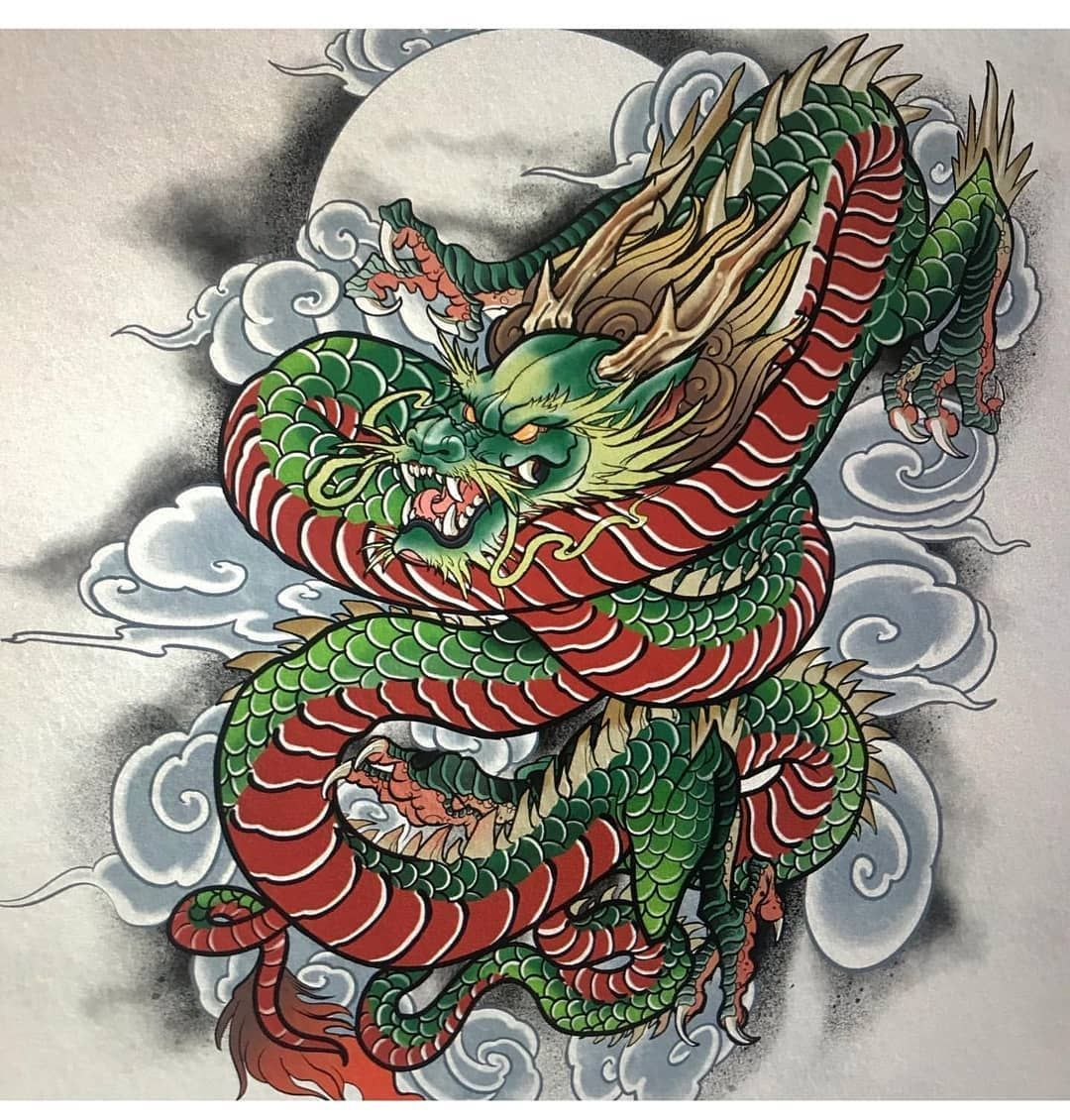 Irezumi Culture Tattoo En Instagram Impresionante Trabajo De Arte Del Dragon Realizado Por In 2020 Dragon Tattoo Art Japanese Dragon Tattoos Dragon Tattoo Colour