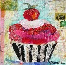 Resultado de imagen para ilustracion collage cupcakes