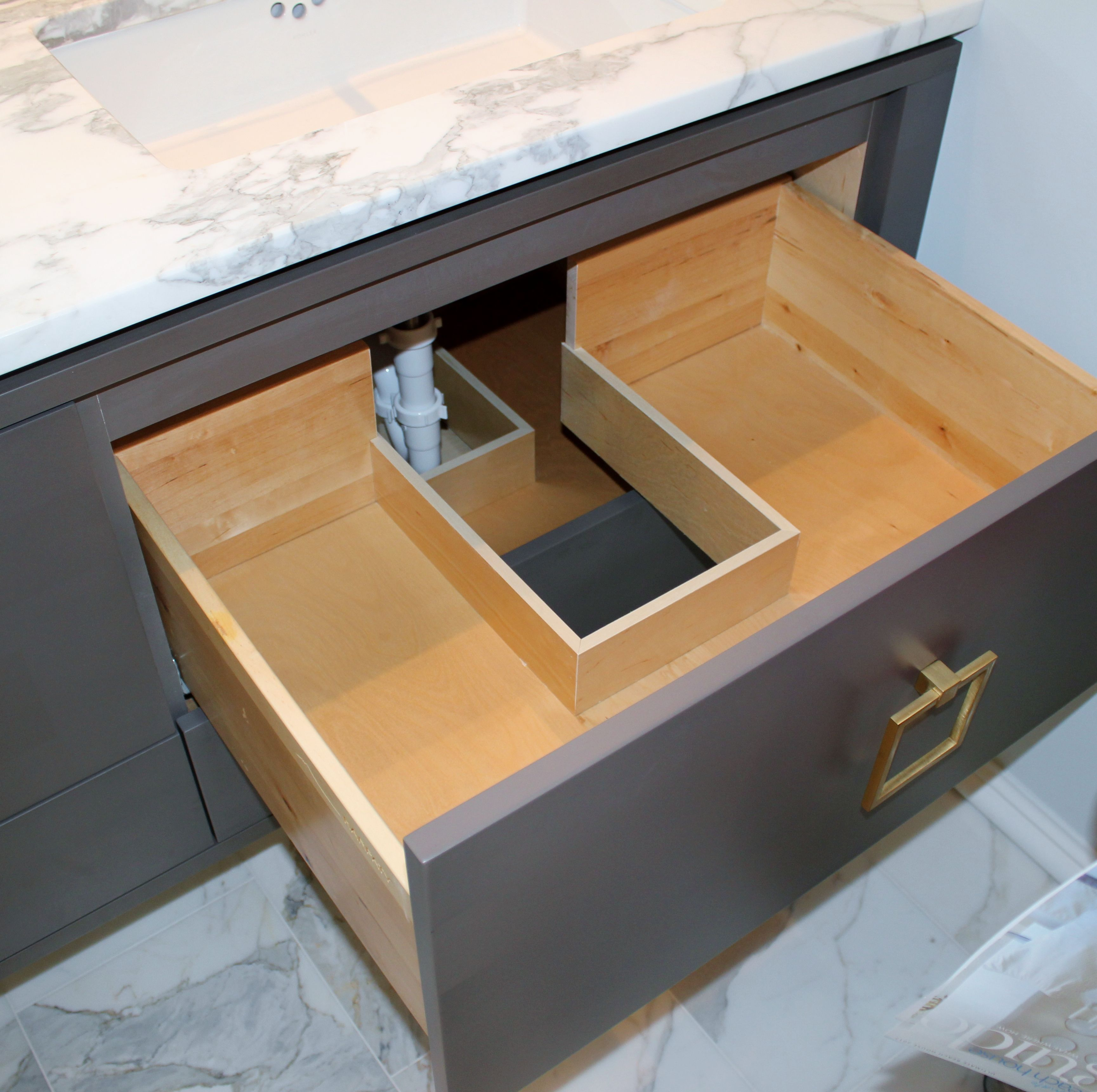 10 Amazing Ideas To Utilize The Space Under The Sink For Storage: Smart Use Of Wasted Space Around Plumbing. All Cabinets