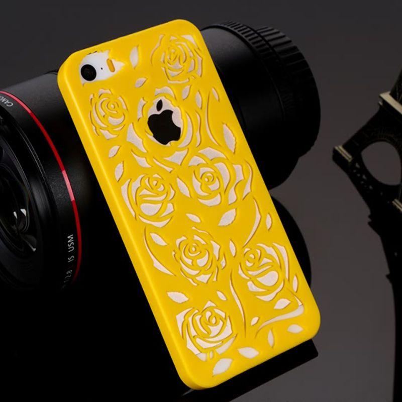 Case per apple iphone 5 s case del telefono iphone5 5 s casi modello di fiore dell'annata di modo di lusso del telefono iphone5s copertura posteriore