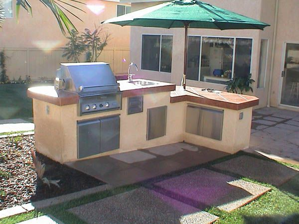 Outdoor Brick Grill Plans Barbeque And Kitchen Landscape Design Construction Gallery