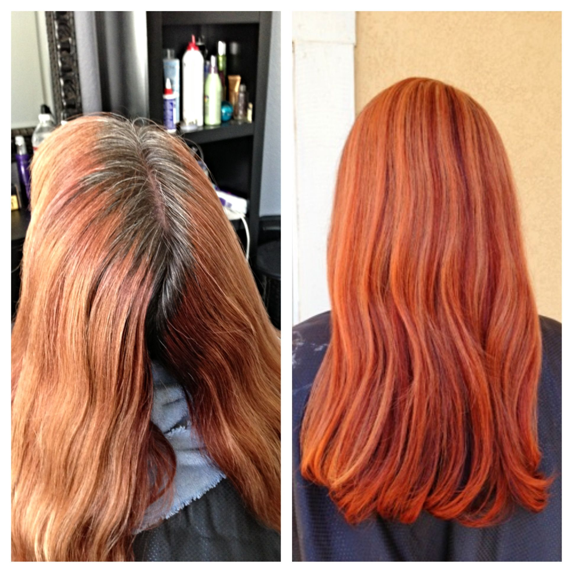 Before after dimensional red hair highlights lowlights hair by before after dimensional red hair highlights lowlights hair by hairbycarriegouvion pmusecretfo Choice Image