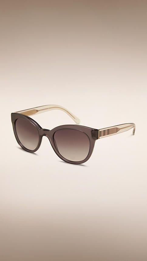 Check Detail Oval Frame Sunglasses | Sunglass frames. Sunglasses. Burberry eyewear