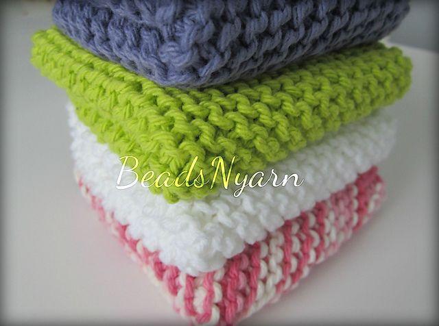 Ravelry: Knit Dishcloth pattern by Bernat Design Studio | knitting ...