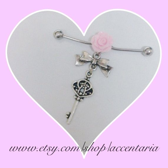 Pretty vintage key rose industrial  by AccentAria on Etsy, $16.00. So pretty!  xxx