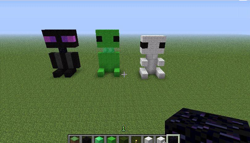 Baby Enderman, Creeper, Skeleton by Tigerstar12356 ...  Minecraft Cute Skeleton