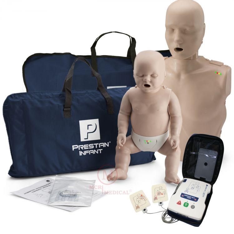 CPR Training Kit w. Adult & Infant Manikin WITH Feedback