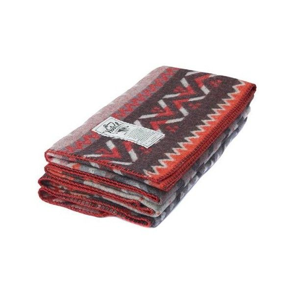 Woolrich Kendall Creek Blanket - Old Red Fair Isle ($190) ❤ liked ...