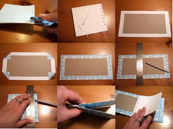 как укрепить уголки открытки