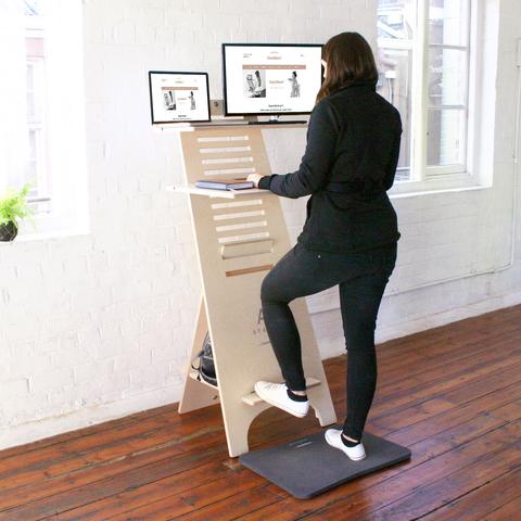 Sit Stand Desk Adjustable Height Standing Computer Workstation