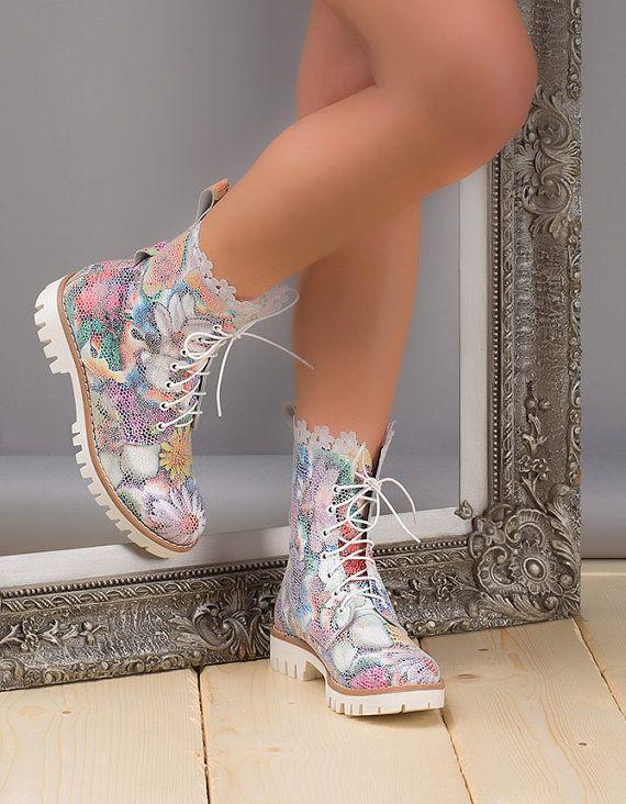 Handgemachte Stiefeletten echte Leater von HandmadeShoesAndBags