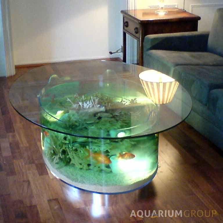Custom Built Coffee Table Aquarium A Bespoke Oval Coffee Table
