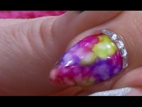 Tie Dye Sharpie Design Acrylic Nail Kirsty Meakin Naio Nails