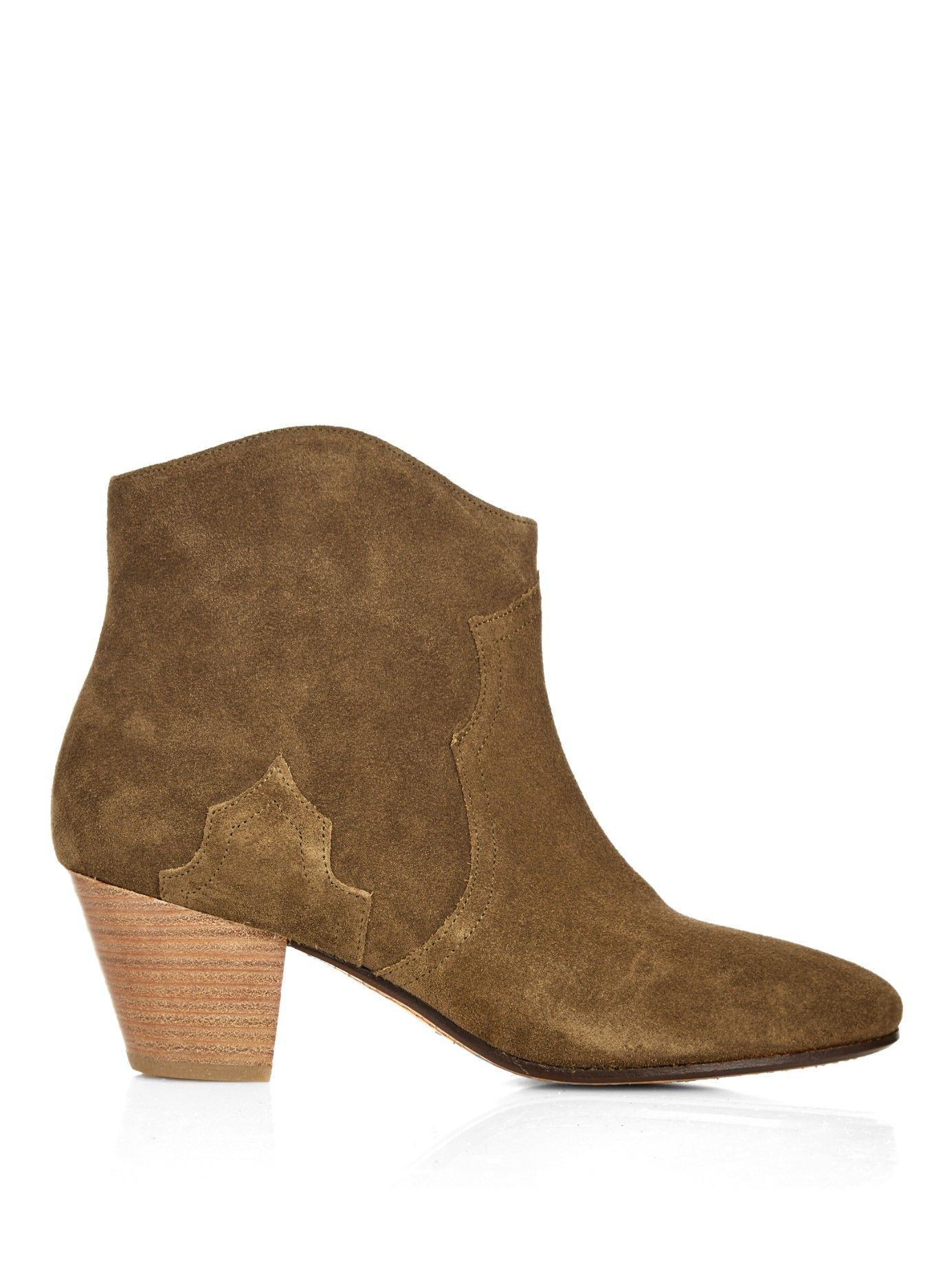 Étoile Dicker suede boots in brown | Isabel Marant | MATCHESFASHION.COM US
