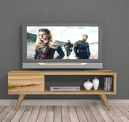 Maya Tv Lowboard Natur Holzfarbe Tv Board Fernsehtisch In Elegantem Design