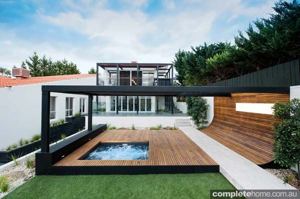Backyard Landscaping · Modern Design Outdoor Landscape Decking And Spa