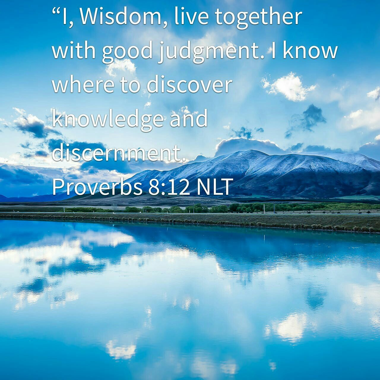 Wisdom Knowledge Discernment 💜 Proverbs 8:12 NLT | Bible apps ...