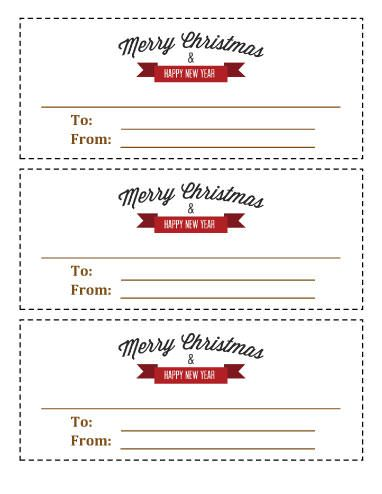 Running out of gift ideas? Download our printable Christmas - gift certificate voucher template