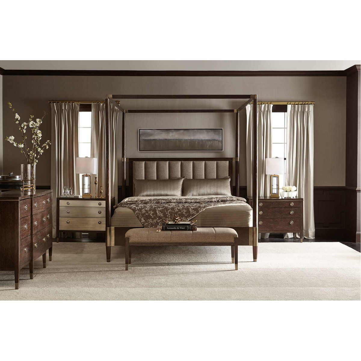 Bernhardt Clarendon Arabica Canopy Bed Luxurious Bedrooms
