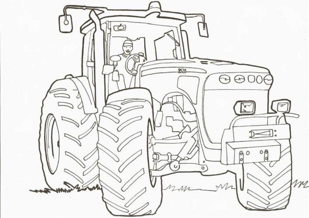 exceptionnel   coloriage a imprimer tracteur john deere